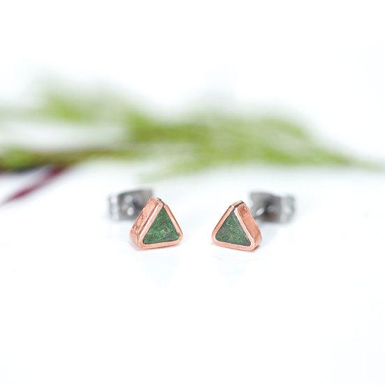 'Copper Triangle' Stud earrings