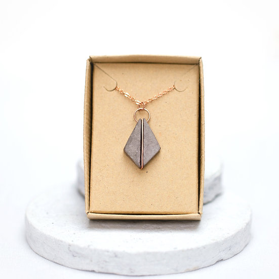 Copper and Paper Necklace