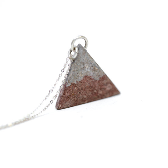 Birch Dyed Paper Triangle Necklace
