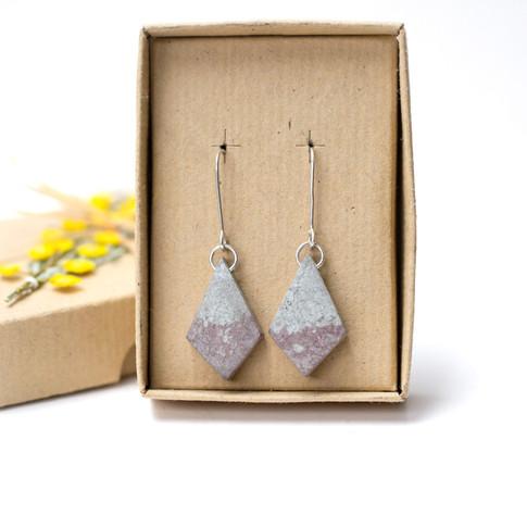 Woad and Birch Dyed Diamonds