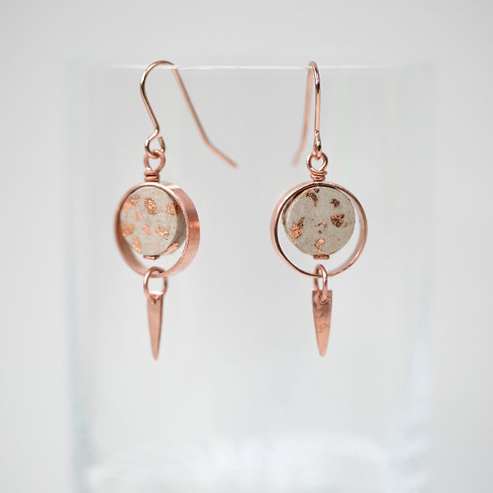 Copper and Paper Earrings