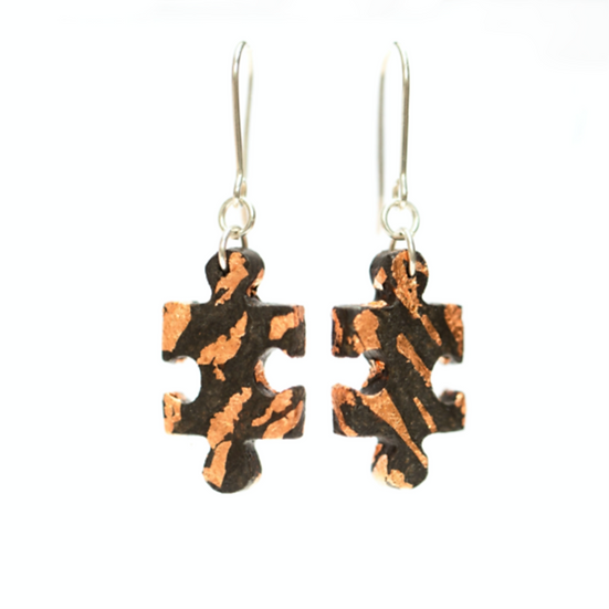 Paper Puzzle Piece earrings