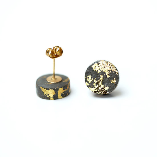 Gold Flecked Paper studs