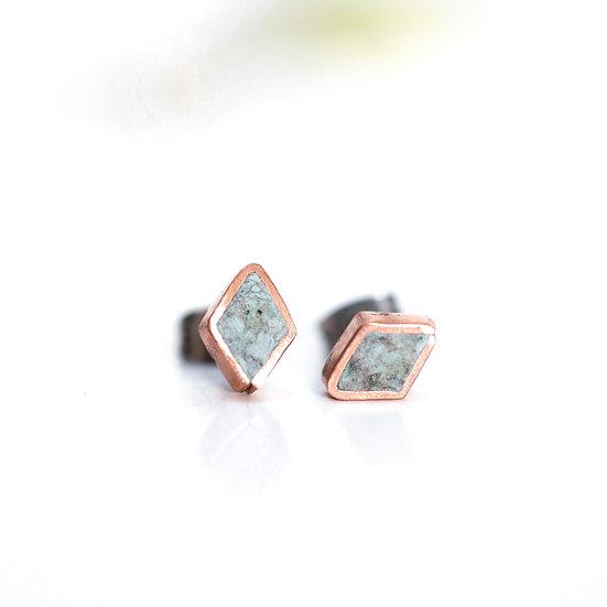 'Copper Diamond' Stud earrings