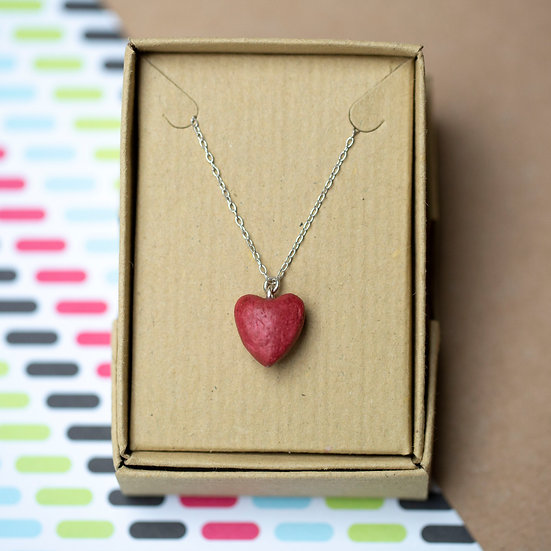 Paper Heart Necklace