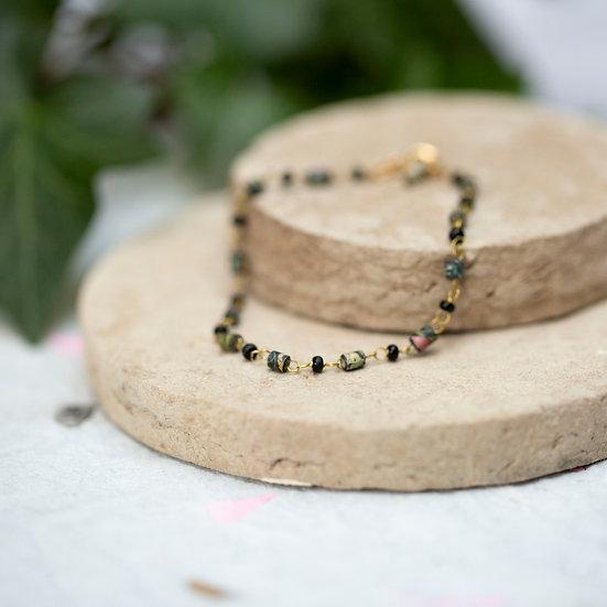 Fine Paper Bead Bracelet