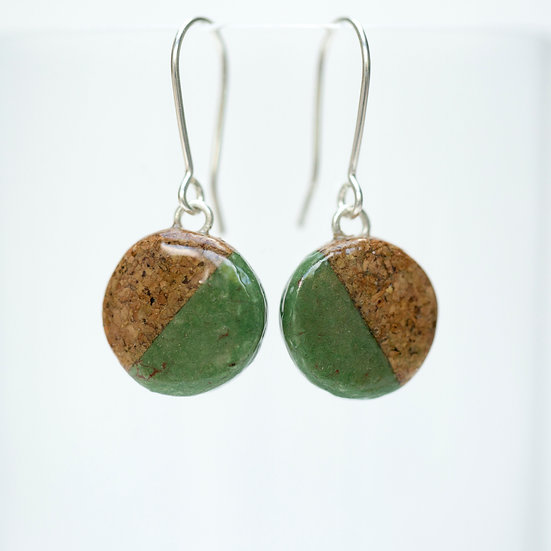 Small cork and paper earrings
