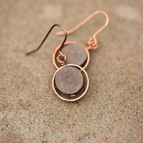 Grey Paper and Copper Drops