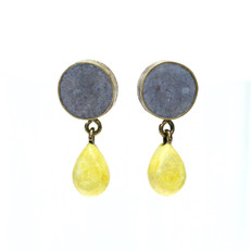 Blue 'Lemon Drop' Studs