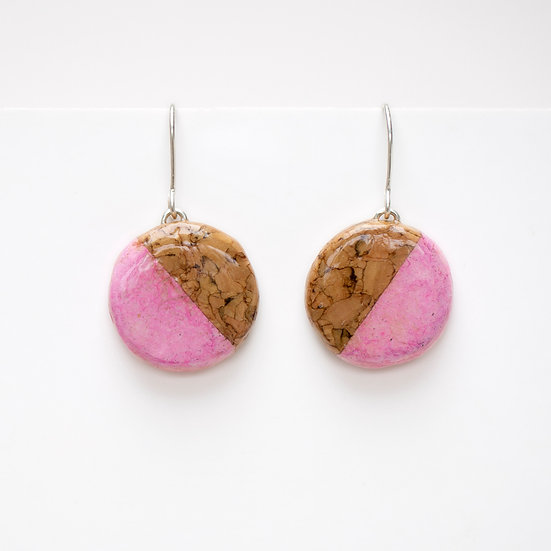 Cork and paper earrings