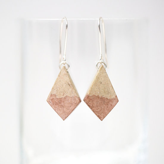 Ivy and Birch Dyed Paper Diamond Earrings