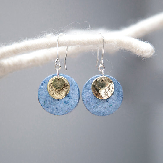 Paper and Fabric 'Petal' Earrings