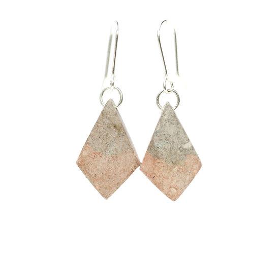 Cherry Dyed Paper Diamond Earrings