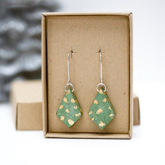 Paper 'Diamond' Earrings