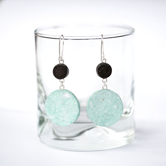 Two Tier Round Earrings