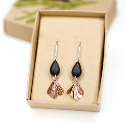 'Fan' Dangle Earrings