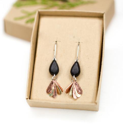 'Fan' Dangle Earrings