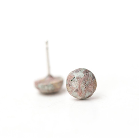 'Plant Dyed' Paper Button Studs