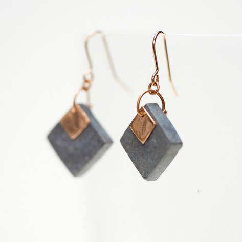 Blue Paper and Copper Squares