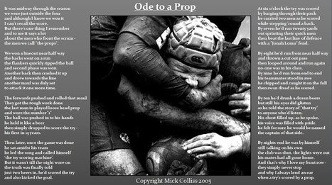 Ode To A Prop by Mick Colliss