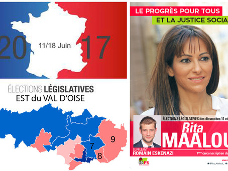 5 questions aux candidat(e)s de l'Est du Val d'Oise. Rita MAALOUF (PS - 7e circo)