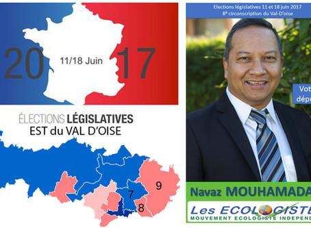 5 questions aux candidat(e)s de l'Est du Val d'Oise. Navaz MOUHAMADALY, (MEI - 8e circo)