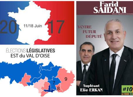 5 questions aux candidat(e)s de l'Est du Val d'Oise.  Farid SAIDANI, (100% Eco-Citoyen - 8e circo)