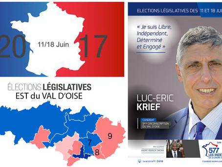 5 questions aux candidat(e)s de l'Est du Val d'Oise. LUC-ERIC KRIEF (Centre - 9e circo)