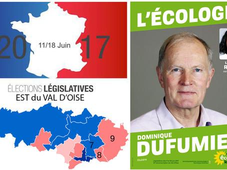 5 questions aux candidat(e)s de l'Est du Val d'Oise. DOMINIQUE DUFUMIER (EELV - 9e circo)