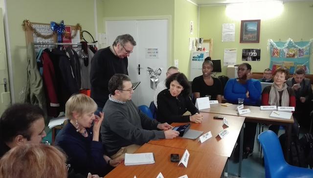 Au centre : Madame Sylvie Feucher, Préfète à l'Egalité des chance du Val D'oise