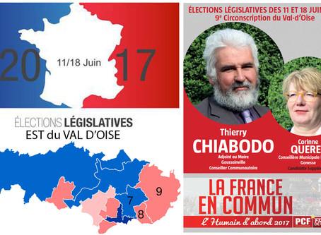 5 questions aux candidat(e)s de l'Est du Val d'Oise. Thierry CHIABODO (PCF / FdG - 9e circo)