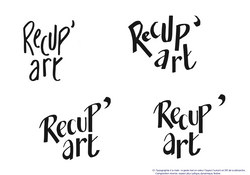 Récup'art - recherches typo
