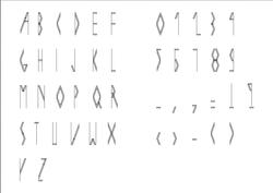 MAK font.