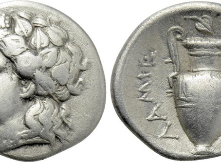 Why are opium leaves not serrated on ancient coins?