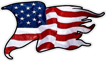 Rugged American Flag Vinyl Sticker