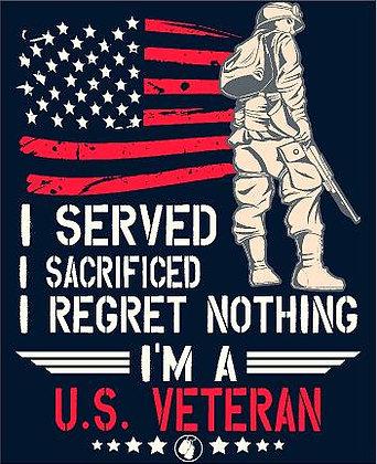 US Veteran Vinyl Sticker