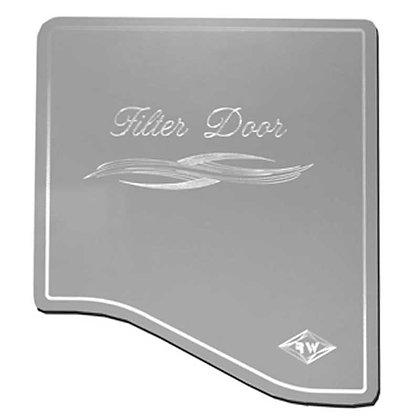 S/S Door Cover - A/C Heater Filter Rockwood