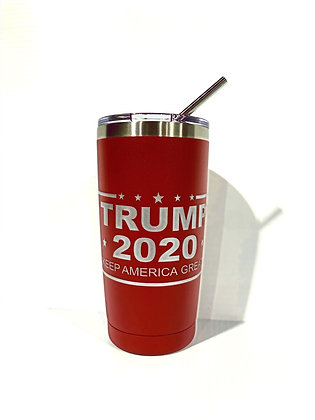 Trump 2020 Travel Tumbler (Red)