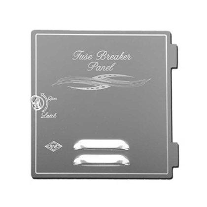 S/S Fuse/Breaker Compartment Door w/Louvers Engraved w/E Flourish Rockwood