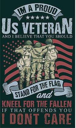 Veteran Stand for the Flag Vinyl Sticker