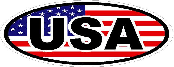 USA Oval Vinyl Sticker
