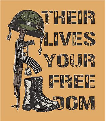 Their Lives Your Freedom Vinyl Sticker
