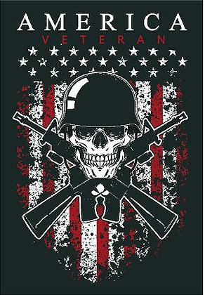 America Veteran Vinyl Sticker