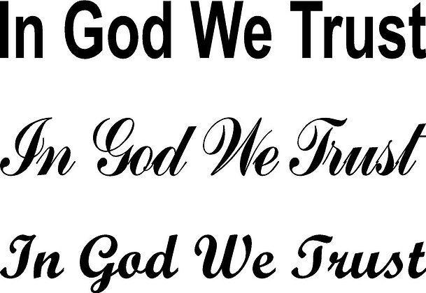 In God We Trust (Digital Download)