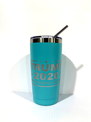 20 oz. Trump 2020 Travel Tumbler (Mint)
