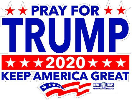 Pray for Trump Vinyl Sticker
