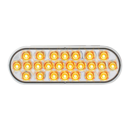 Oval Pearl Amber/Clear Led Light