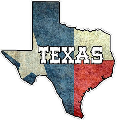 Texas (Rustic) Vinyl Sticker