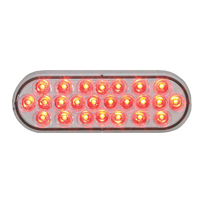 Oval Pearl Red/White Led Light
