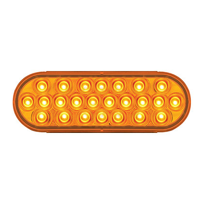 Oval Pearl Amber Led Light
